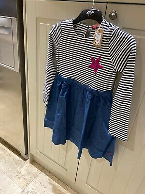 joules girls age 9-10 Dress New With Tags Beautiful All In One Dress