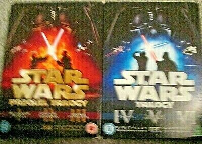 Star Wars - The Original Trilogy/Prequel Trilogy (2 DVD Sets 12-Discs,2008)