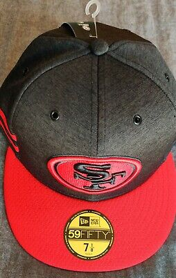 New Era 5950 59Fifty On Field 2018 San Francisco 49ers Fitted Hat Sz 7 1/8
