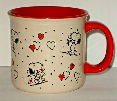 Peanuts Snoopy & Woodstock Valentines Day Oversized Ceramic Coffee Mug by Gibson
