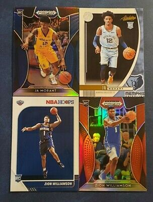 Zion Williamson Ja Morant Pick Your Rookie Card RC Prizm Draft Hoops Inserts