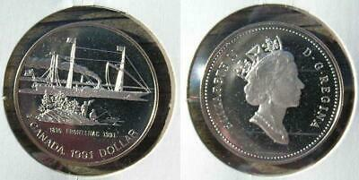 1991 Canada Silver Frontenac Dollar Frosted Proof