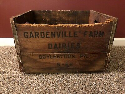 Gardenville Farm Dairies Advertising Crate Doylestown PA September 1962