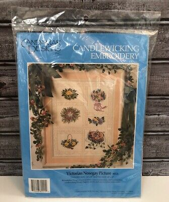 Candamar Designs Candlewicking Embroidery - Victorian Nosegay Picture, NEW