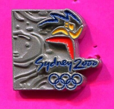 2000 Sydney Olympic Pin Olympic Torch Runner Pin Pewter Pin