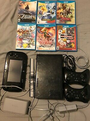 Nintendo Wii U Mario Kart 8 Deluxe Bundle with 6 games
