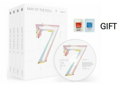 NEW BTS MAP OF THE SOUL : 7 Album CD+Book+M.Book+Lyric+Sticker+P.Card +Gift