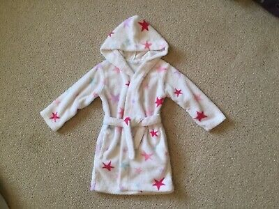Pretty Little Girls Stars Dressing Gown Robe By Marks & Spencer's Age 3-4 Years