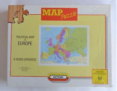 Castorland b-111060 map of Europe puzzle 100 pièces