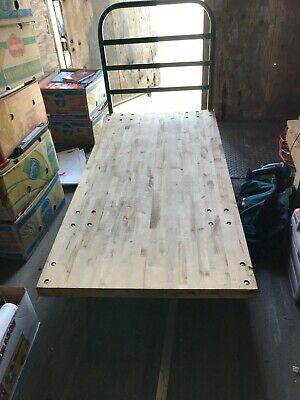 "Uline Wood Platform Truck 30""x60"" - Pick-Up Only"