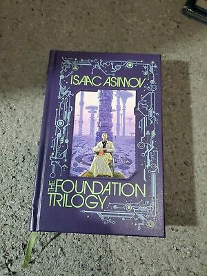 FOUNDATION TRILOGY Isaac Asimov Deluxe Leather Hardcover *Excellent Condition*