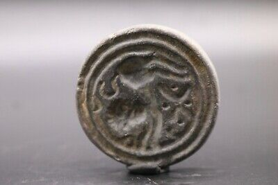 Near Eastern Stone Carved Stamp Seal - 800 BC - 200 AD