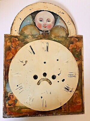 Longcase Grandfather Clock Dial With Moonface