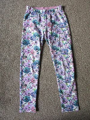 Beautiful Zara girls 9-10 years flowers floral legging trousers  - Exc con