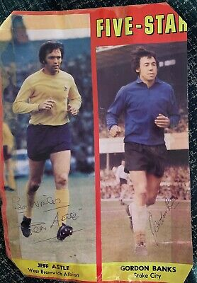 Signed Jeff Astle Gordon Banks FC England World Cup 1966 Autograph West Brom