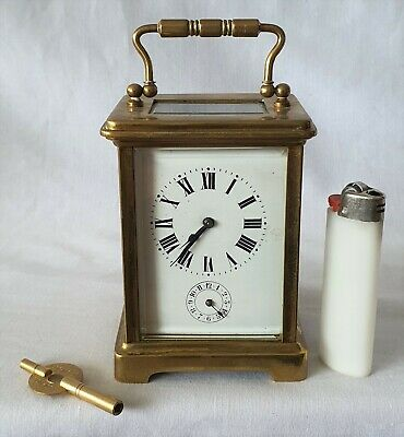 Antique Carriage Clock With Alarm 14cm Fully Working Approx