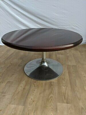 Rosewood  and Chrome Tulip Coffee Table Mid Century Retro Vintage