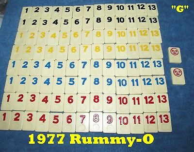 Individual RUMMY-O II U Choose 1970/'s Replacement Tiles Large Number Edition