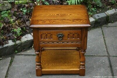 Old Charm Light Oak Coffee Lamp Phone Tea Hall Table Bedside Cabinet Book Stand
