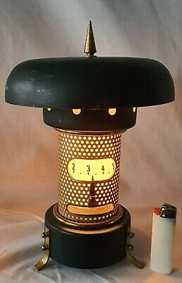 RARE Clock Night Lamp Rotating Time Is Money West Germany.