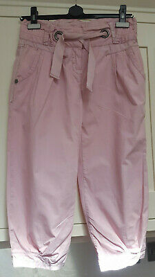 Girls NEXT Pink Summer Cotton 3/4 Trousers 12 Years