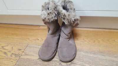 Girls NEXT Sheepskin Style Ankle Boots UK 4 / EUR 37