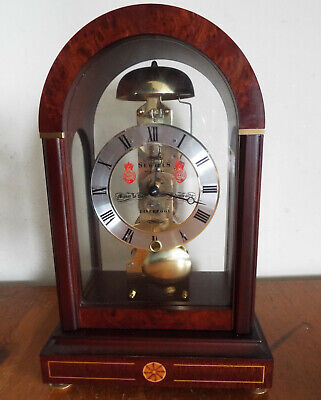 Mantel Clock by Sewills of Liverpool - Hermle Skeleton reproduction clock + Key