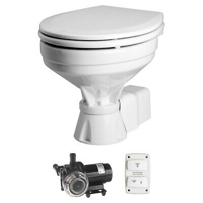 Johnson Pump AquaT Toilet Silent Electric Comfort - 12V w/Pump