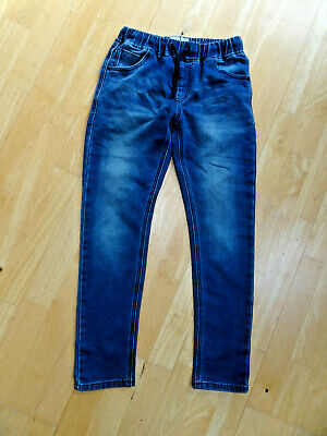 NEXT boys blue elastic waist jeans soft fabric AGE 11 YEARS EXCELLENT