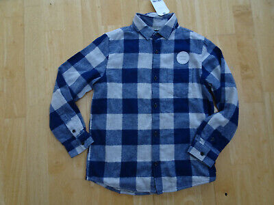 NEXT boys grey navy jersey lined long sleeve shirt AGE 8 YEARS BNWT NEW