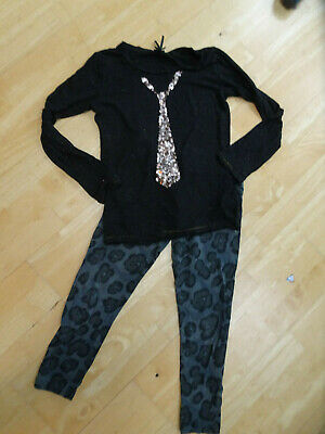 NEXT girls 2 pack leggings top AGE 11 YEARS EXCELLENT COND