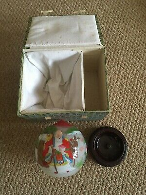 Chinese Theme Glass Ball With Stand And Box? Christmas