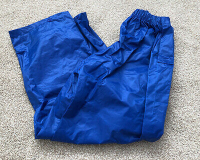 WATERPROOF TROUSERS Blue elasticated waist - Age 5-6 years
