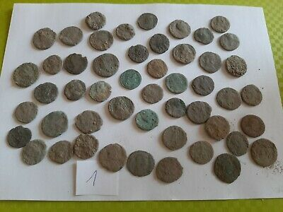 Lot of 50 ancient Roman Bronze Coins for cleaning GOOD QUALITY Intact lot1