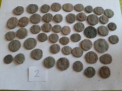 Lot of 50 ancient Roman Bronze Coins for cleaning GOOD QUALITY Intact lot 2