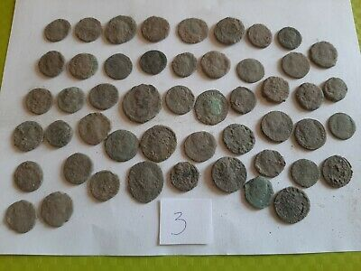 Lot of 50 ancient Roman Bronze Coins for cleaning GOOD QUALITY Intact lot 3