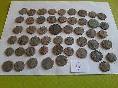 Lot of 50 ancient Roman Bronze Coins for cleaning GOOD QUALITY Intact lot 4