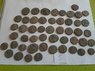 Lot of 50 ancient Roman Bronze Coins for cleaning GOOD QUALITY Intact lot 5