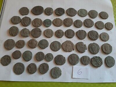Lot of 50 ancient Roman Bronze Coins for cleaning GOOD QUALITY Intact lot 6