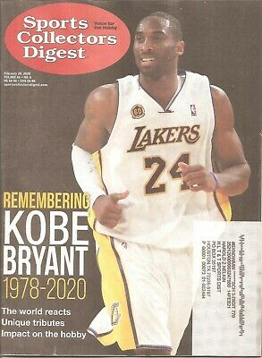 Sports Collectors Digest~Scd~2/28/2020 Remembering Kobe Bryant-Complete Magazine