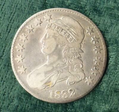 1832 Capped Bust Silver Half Dollar, Lettered Edge Silver Half Dollar Coin