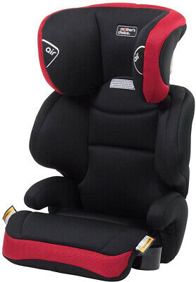 Baby Car Booster Seat Slim Design 6 Position Headrest Height Adjustment Black