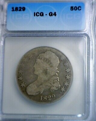 1829 ICG Certified Bust Half Dollar Silver Coin ~ NICE Looking w/   NO RESERVE