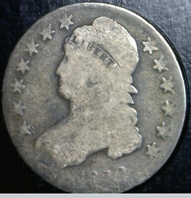1830 Capped Bust Half Dollar Silver Coin NICE Early Coins Lot #4     NR
