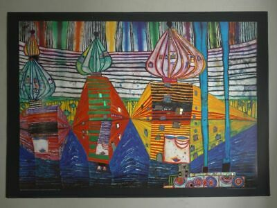 Resurrection of Architecture Farboffsetdruck Plakat n. Hundertwasser Kunst 2015