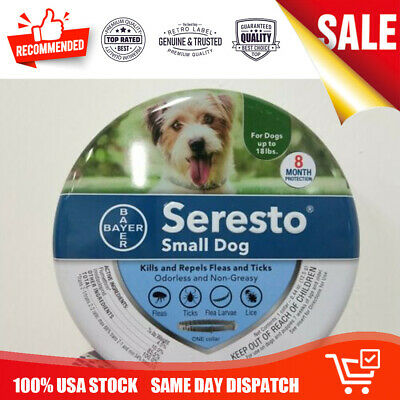Bayer Seresto Flea and Tick Collar for Small Dogs 8 Month Up to 18 lb Protection
