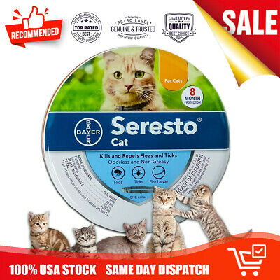 Bayer Seresto Flea and Tick Collar For Cats 8 Month Protection Treatment