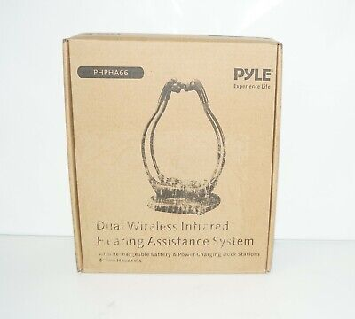 Pyle Health PHPHA66 Dual Infrared Wireless Hearing Assistance System