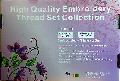 63 Colors Polyester Machine Embroidery Thread For Brother 500M Spools