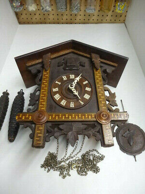 Antique Vintage One Day American Cuckoo Clock Company Cuckoo Clock